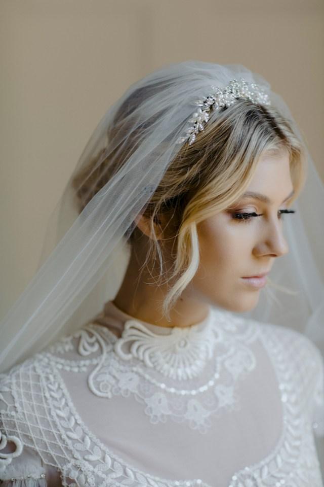 enchanted   silver crystal bridal tiara
