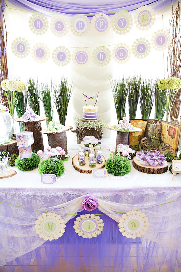 purple-woodland-dessert-table