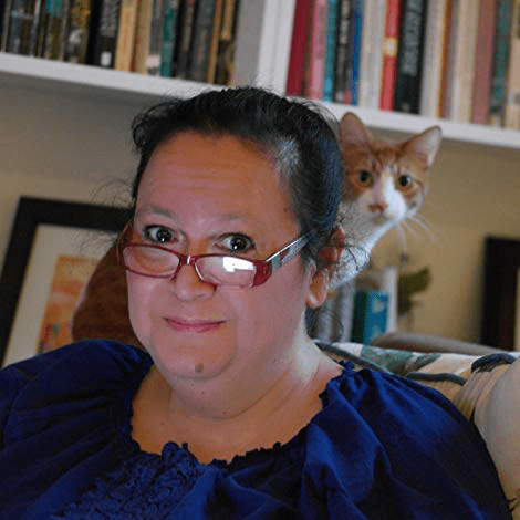 Romance Author Tani Hanes (and her cat Moss)