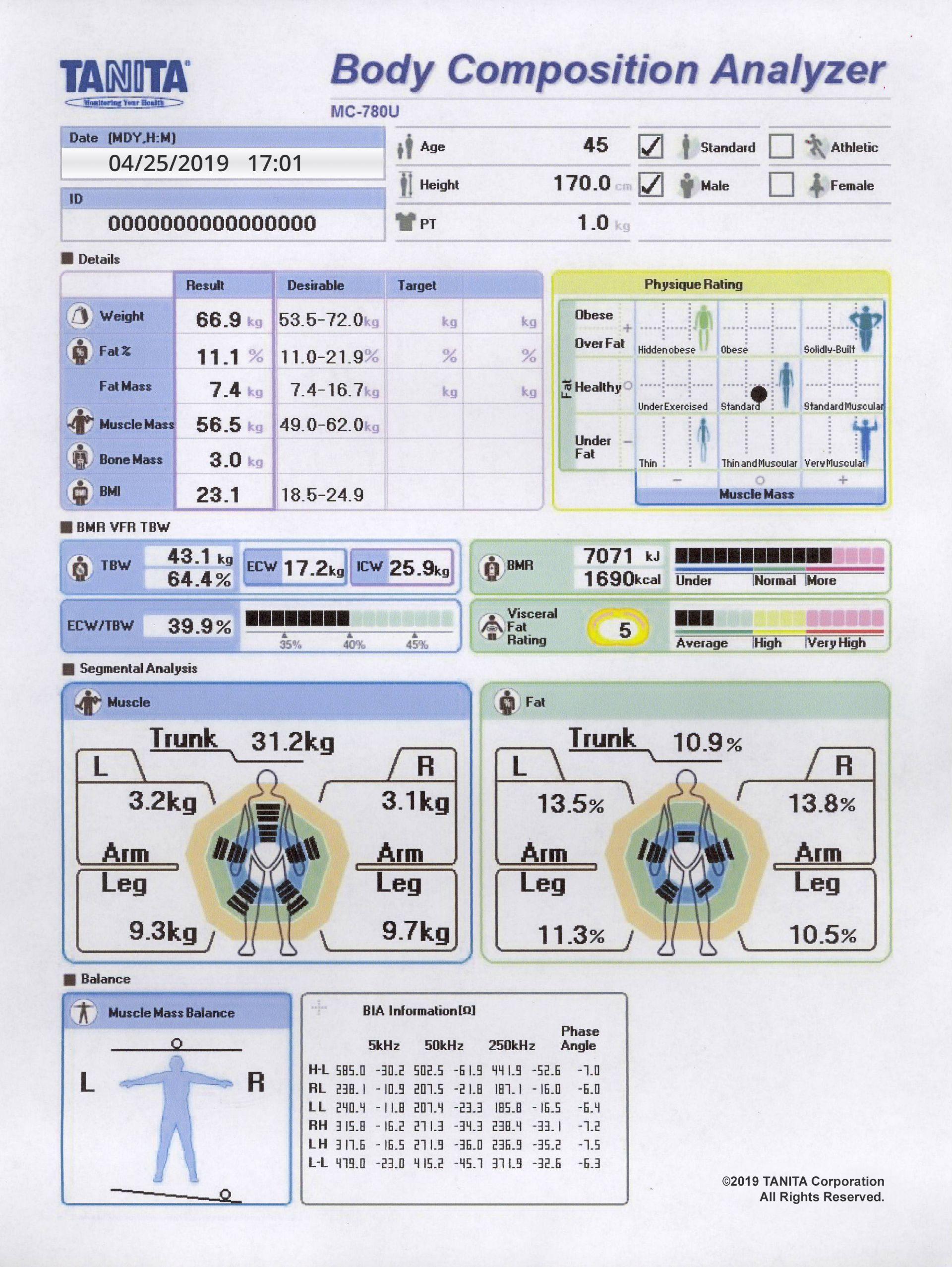 Mc 780u Multi Frequency Segmental Body Compositionyzer