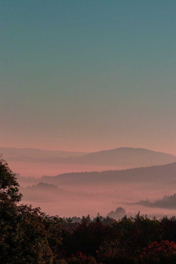 Fotografieren im Herbst - Nebel im Sonnenaufgang