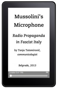 Mussolini`s Microphone @ KINDLE