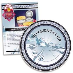Etiket voor kaas en folder met productinformatie voor kaasboerderij