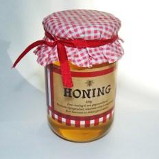 Label voor honing van een hobby-imker