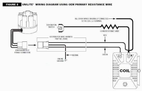 diagram mallory unilite ballast resistor wiring diagram