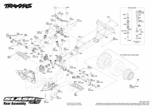 Traxxas Stampede 4×4 Parts Diagram