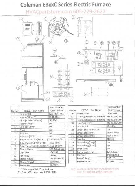 Coleman Electric Furnace Wiring Diagram At 7