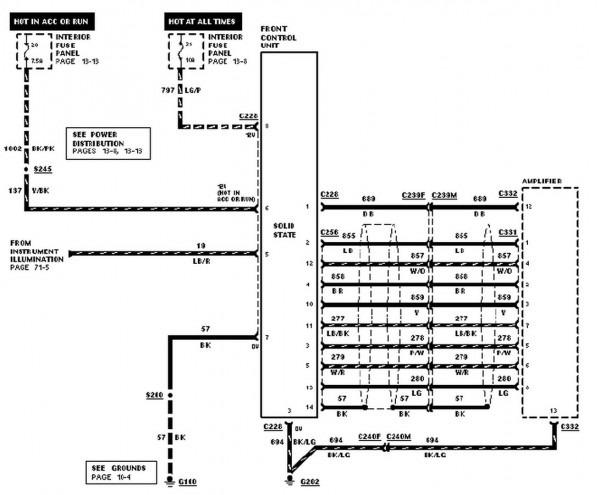 1996 Ford Explorer Radio Wiring