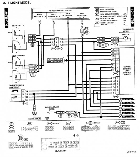 2005 Subaru Legacy Radio Wiring Diagram