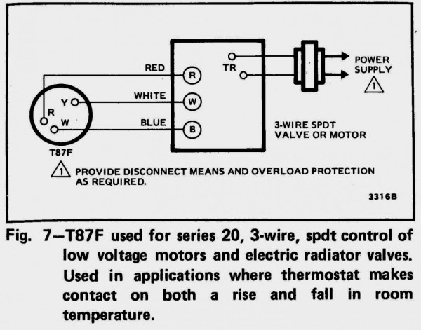 3 Wire Thermostat Wiring Honeywell