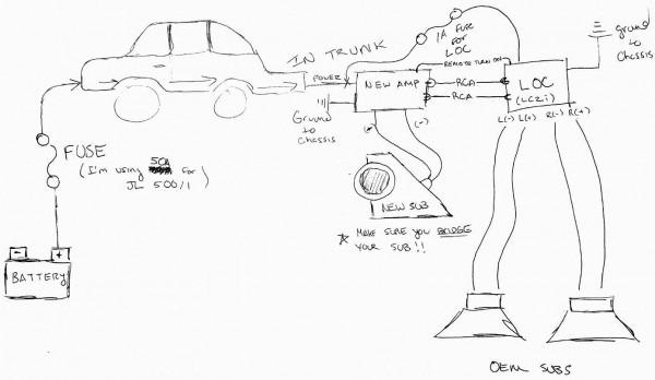 Line Output Converter Installation Diagram