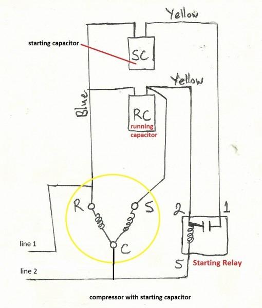 Fridge Compressor Diagram