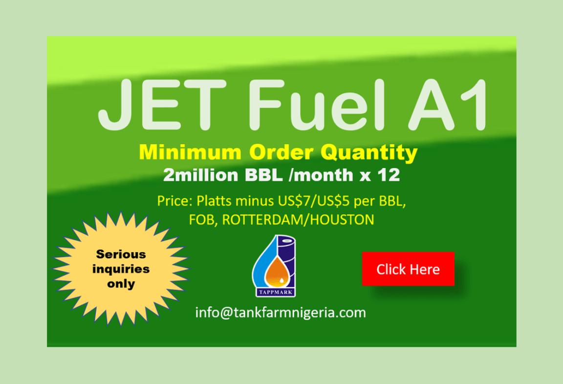 Jet Fuel Offers | Tank Farm Nigeria