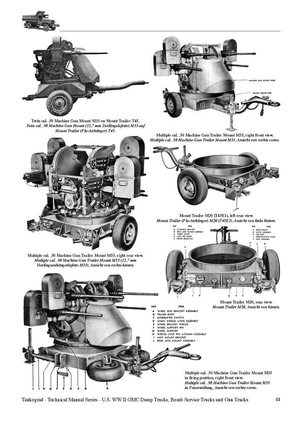 U.S. WW II GMC CCKW 2 ½-TON 6x6 Dump Trucks, Gun Trucks