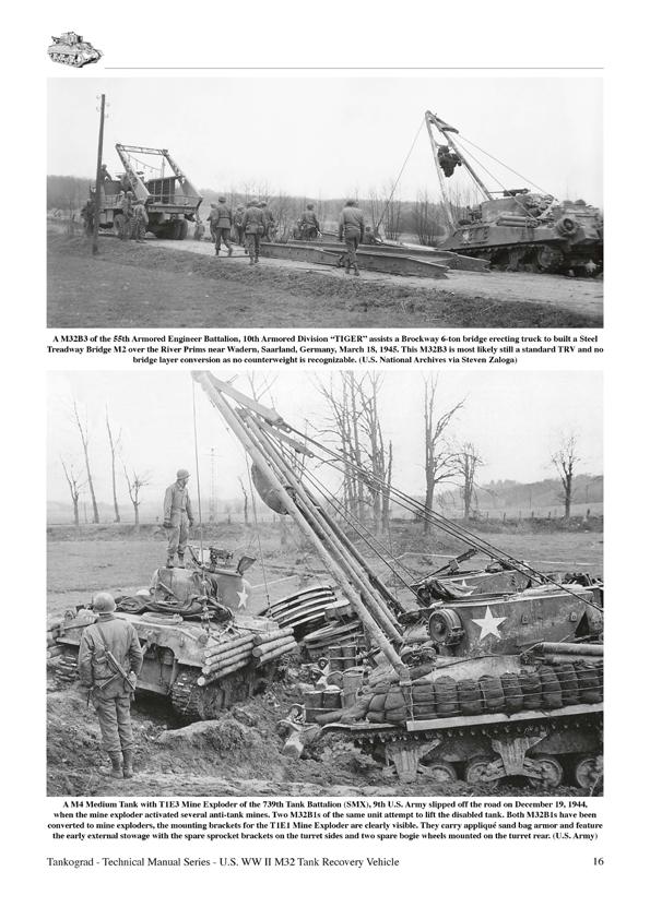 US WW II M32 M31B1 M32B2 M32B3 Tank Recovery Vehicles