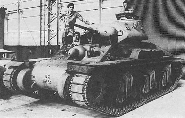 RAAC tank crew on their new Australian Cruiser Tank AC1 Sentinel