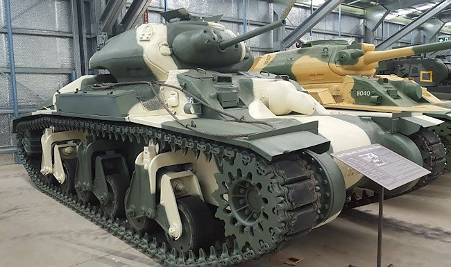 Preserved RAAC Sentinel AC1 Cruiser Mk.1 Australian WW2 Tank in the Australian Armour and Artillery Museum