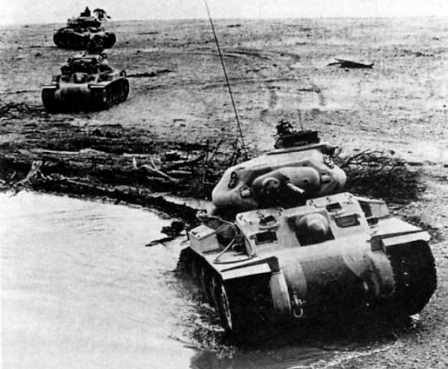 Sentinel Tanks on exercise
