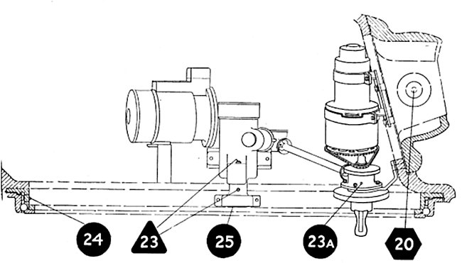 diagram of the Turret traverse mechanism of the AC I