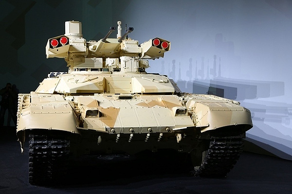 BMPT-72 Terminator 2 showcased at an expo