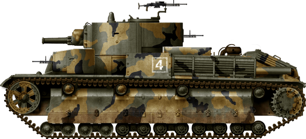 A late T-28E (upgraded with appliqué armor), available when the German invasion took place in June. 220th Armored Brigade, belonging to the 55th Infantry Division, summer of 1942