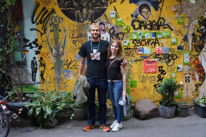 On a street art tour in Berlin, Germany