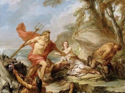 Il dio del mare: Poseidone (Nettuno per i Romani)
