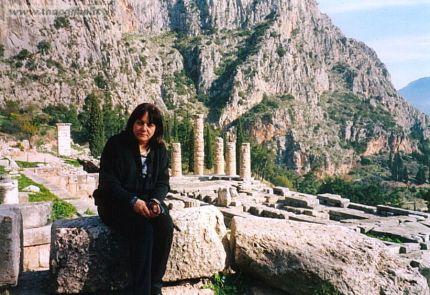 Delfi - Tempio di Apollo, pendici del Monte Parnaso