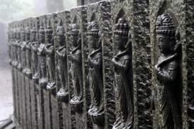 Quelques unes des nombreuses statues ornant la bonus zone