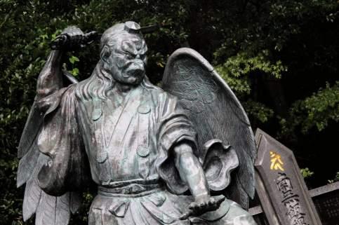 Un des deux gardiens tengu