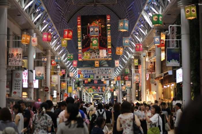 Kagoshima, festival des lanternes et okonomiyaki