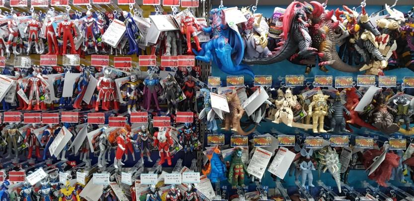 Figurines Ultraman et Godzilla