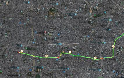 Le chemin qui va de Okubo à Koenji