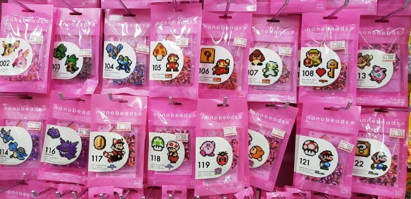Nanobeads Mario, Zelda, Pokémon