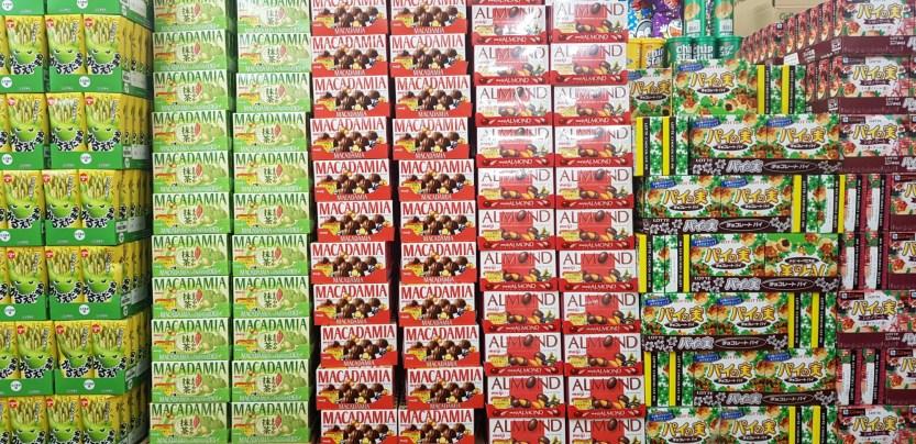 Mur de chocolats