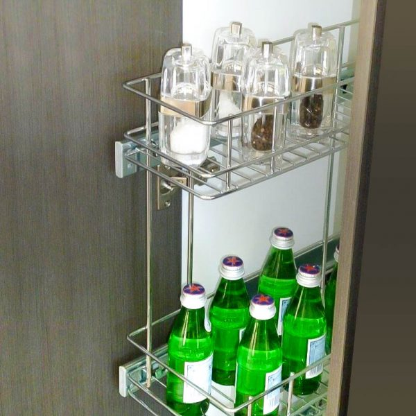 stainless steel wire bottle spice pull out