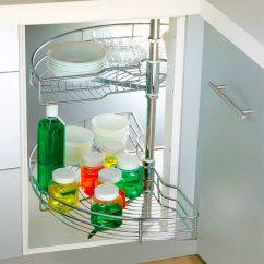 Kitchen Lazy Susan Range Hood Stainless Steel For Corner Cupboard Storage Tansel 1 2 Wire