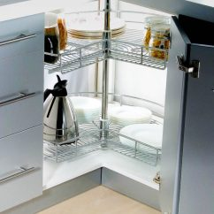 Kitchen Lazy Susan Sinks Lowes Stainless Steel For Corner Cabinet Storage Tansel 3 4 Wire