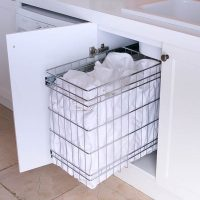 Stainless Steel Pull Out Laundry Baskets For Storage ...