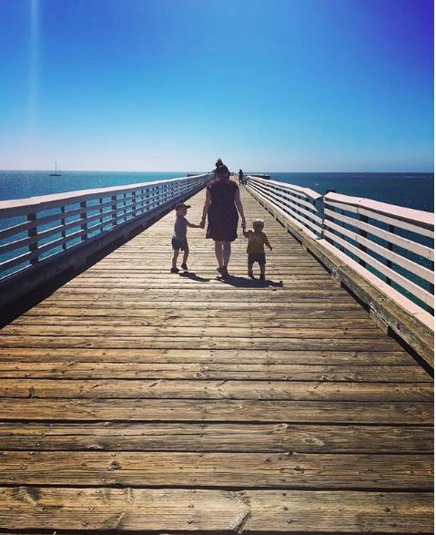 Kalifornian säihkyvä taivas ja meri. Kuva: Instagram.
