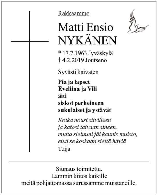 Maan Korvessa Matti Nykänen