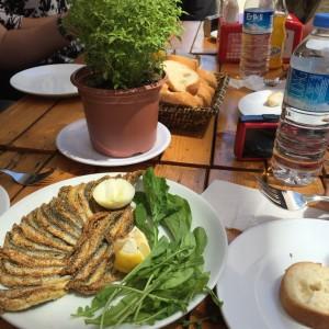 Sardines and rocket