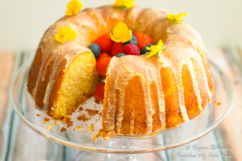Best Glazed Orange Bundt cake