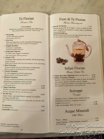 Caffe Florian menu