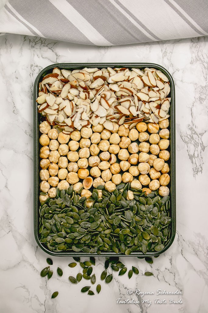 Nuts and seeds for toasting
