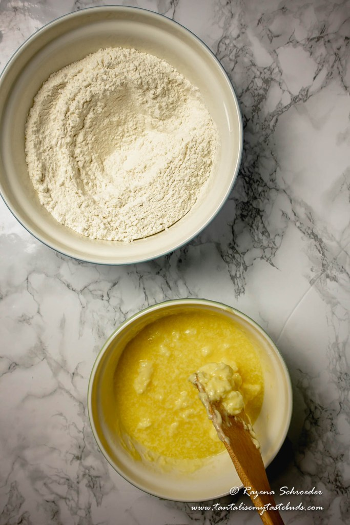 Flour and butter for pastry
