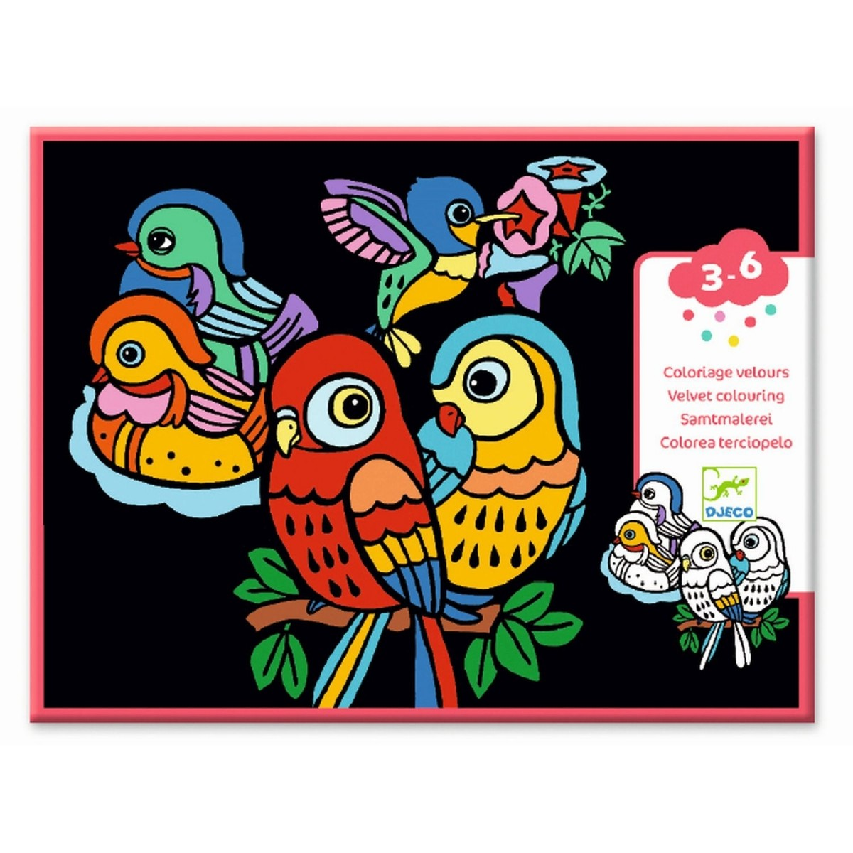 Djeco Malvorlagen Samtbilder Vögel ab 3-6 Jahre