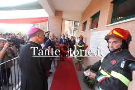 La cerimonia di intotolazione alle vittime del distaccamento dei Vigili del Fuoco di Cassino
