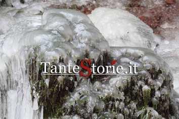 Il ghiaccio che si è formato
