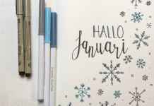 bullet journal setup voor januari